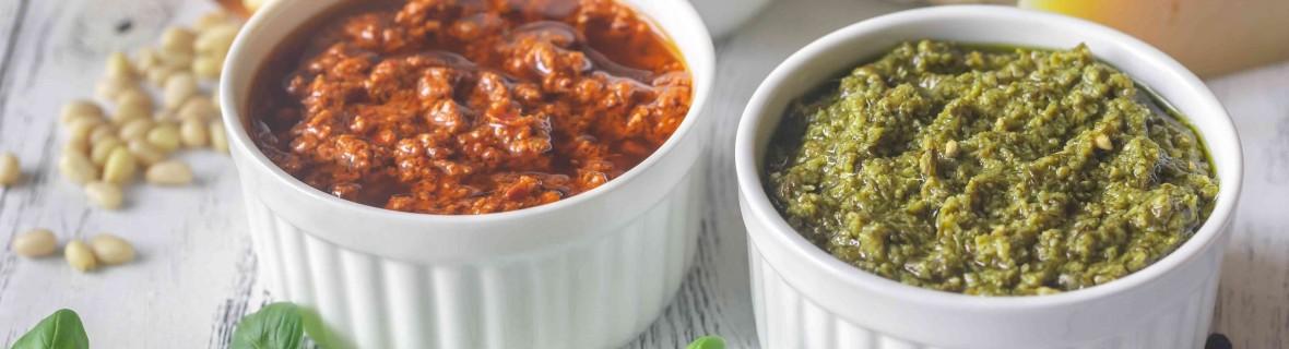 Warzywne pesto i humus, w sam raz na koniec lata