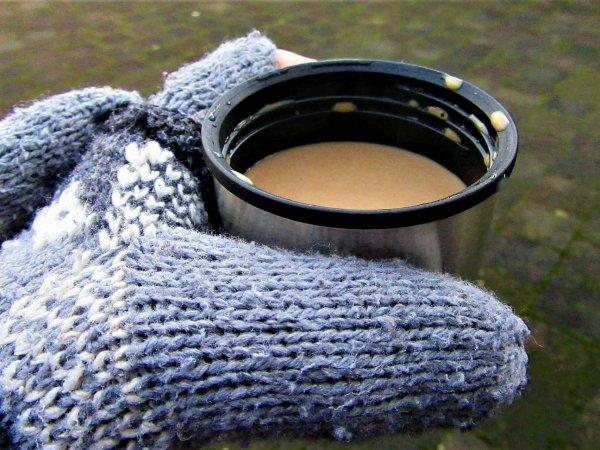 Zimowa wycieczka – tylko z termokubkiem lub wygodnym termosem