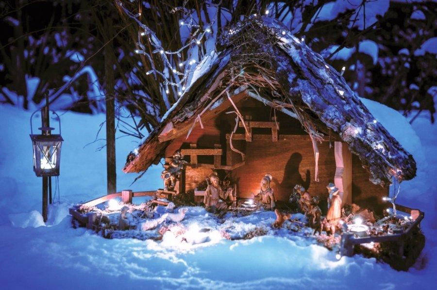 świąteczne Dekoracje W Ogrodzie