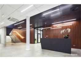 Biura firmy Domel, Łomża – zamontowane sufity Armstrong (z rodziny Perla OP) nie tylko kształtują przyjazną akustykę, ale są też ekologiczne (płyty i cała konstrukcja posiada ceryfikat C2C - Cradle to Cradle®)