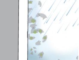 Dodatkowo, deszcz i odparowująca z powierzchnię wilgoć usuwają cząsteczki brudi i oczyszczają fasadę