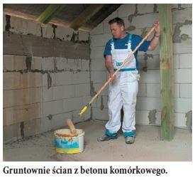 Gruntownie ścian z betonu komórkowego