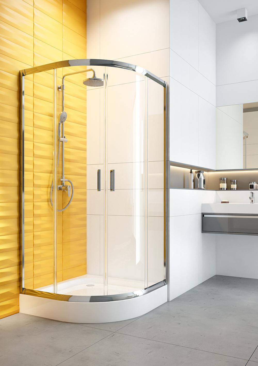 Kabina prysznicowa półokrągła, seria: Funkia
