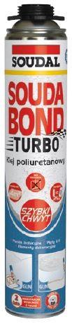 Błyskawiczny i uniwersalny klej poliuretanowy SOUDABOND TURBO