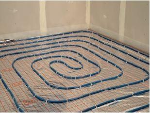 Izolacja podłogi z ogrzewaniem podłogowym.