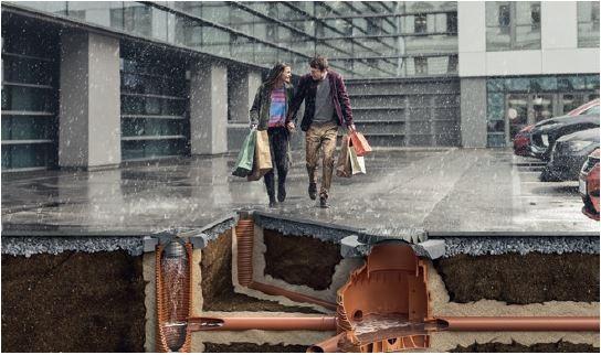 Sieć kanalizacji deszczowej to zespół połączonych ze sobą rur i studni odprowadzających wodę z terenu.