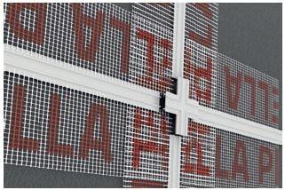 """Zestaw łączników PVC do listew do boniowania w kształcie """"krzyżaków"""""""
