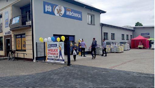 ŁYSZKOWICE (woj. łódzkie) – otwarcie sklepu Mini-Mrówka odbyło się 11.07.2020 r., – właścicielem jest Sklep Wielobranżowy – Stanisław Sukiennik, – powierzchnia handlowa stanowi 500 m2, – w markecie pracują 4 osoby.