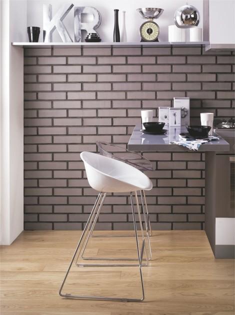 W nowoczesnej kuchni klinkier będzie doskonałym tłem dla designerskich form i dodatków.