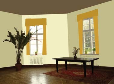 Malowanie na różne kolory ma wymiar estetyczny, ale i praktyczny: b) ciemny sufit obniża optycznie pomieszczenie