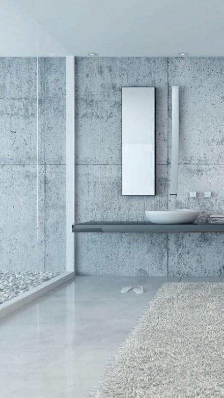 Zdj. 2. Łazienka jest idealnym miejscem do zastosowania wylewki betonowej