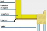 Na nadprożu należy umieścić kapinos, którego zadaniem jest odprowadzanie wody opadowej od połączenia okna lub drzwi z ościeżem.