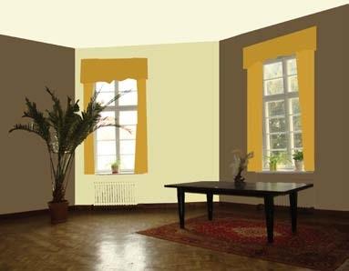 Malowanie na różne kolory ma wymiar estetyczny, ale i praktyczny: a) ciemne ściany zwężają pomieszczenie