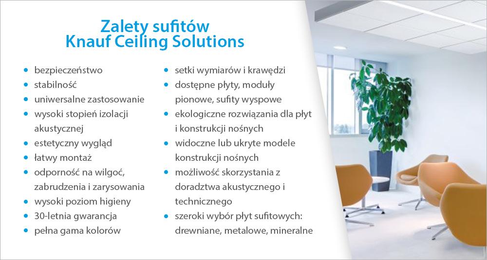 Zalety sufitów Armstrong