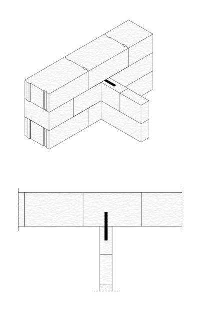 Rys.5. Połączenie ścianki działowej