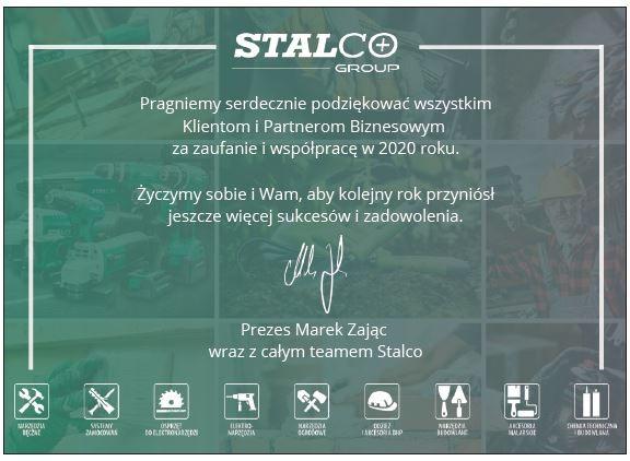 STALCO - podziekowanie