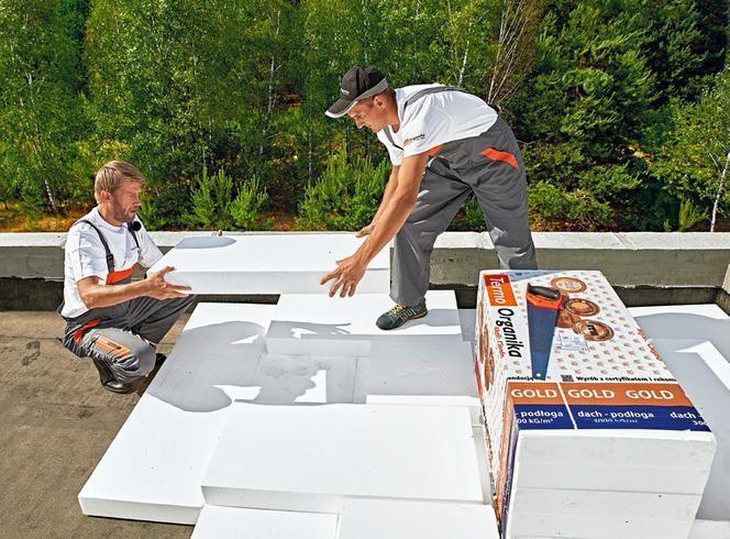 Ocieplenie dachu płaskiego styropianem