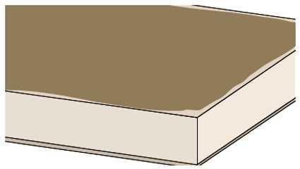 Zaprawę klejową nanosi się dwiema warstwami na całą powierzchnię płyty.