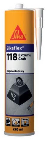 SIKAFLEX® -118 EXTREME GRAB – błyskawiczny klej konstrukcyjny