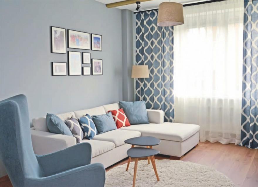 Zdj. 4. Aby mieszkanie sprawiało wrażenie większego, wystarczy zrezygnować z ciepłych intensywnych (morelowych, żółtych, czerwonych) oraz ciemnych kolorów na ścianach.