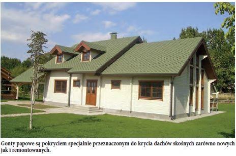 Gonty papowe są pokryciem specjalnie przeznaczonym do krycia dachów skośnych zarówno nowych jak i remontowanych.
