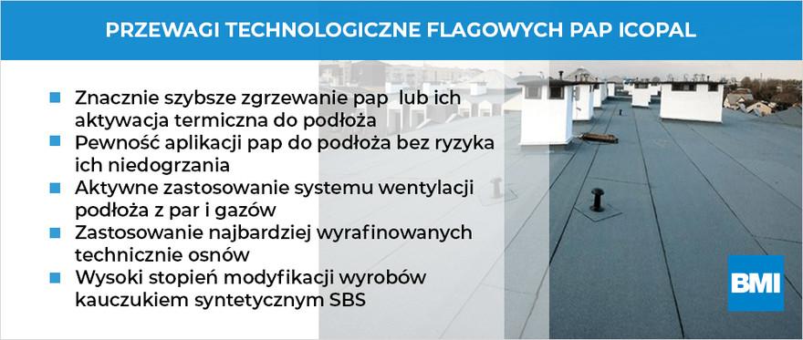Przewagi technologiczne Flagowych Pap Icopal