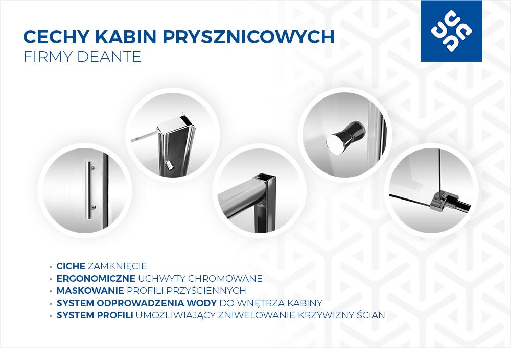 Cechy kabin prysznicowych firmy Deante