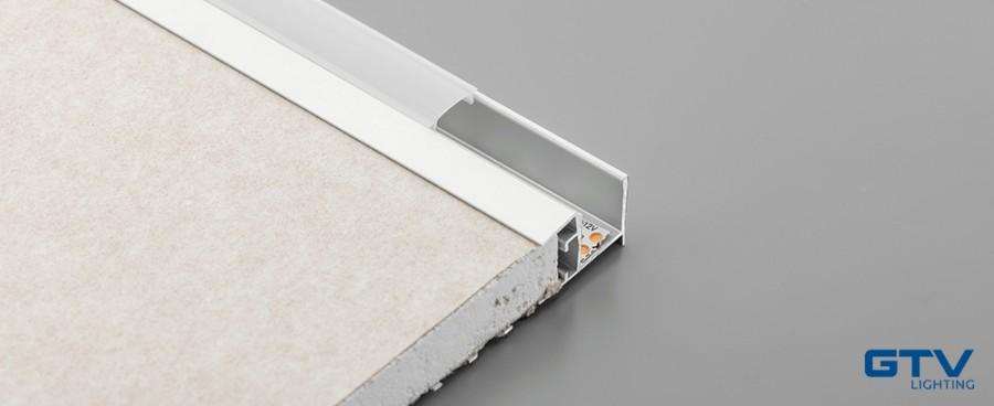 Profil LED GTV sufitowy do płyt gipsowo-kartonowych