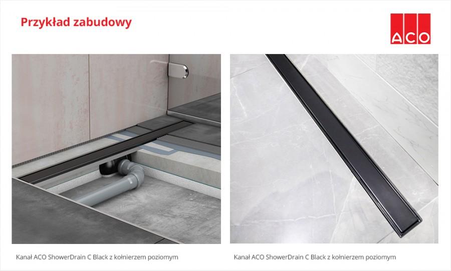 ACO ShowerDrain C Black - przykład zabudowy