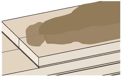 Szczególnie chłonne podłoża pokrywa się dwiema warstwami gruntu, nanosząc preparat pędzlem lub wałkiem.