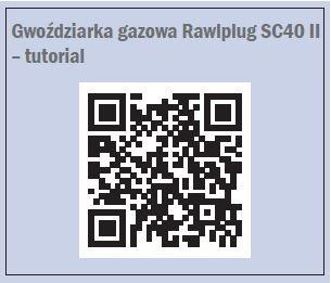 Gwoździarka gazowa Rawlplug SC40 II – tutorial