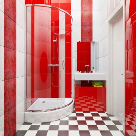 W małych łazienkach sprawdzą się brodziki półokrągłe (fot. AdobeStock)