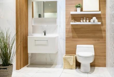 Okładziny drewniane  w łazience