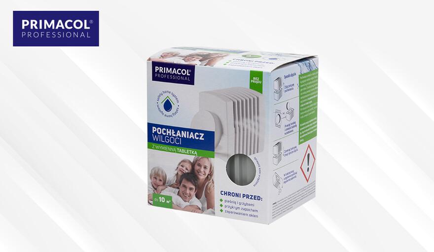 Pochłaniacz wilgoci z wymiennymi tabletkami Primacol Professional