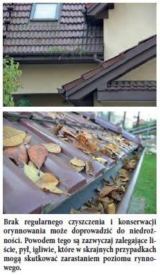 Brak regularnego czyszczenia i konserwacji orynnowania może doprowadzić do niedrożności. Powodem tego są zazwyczaj zalegające liście, pył, igliwie, które w skrajnych przypadkach mogą skutkować zarastaniem poziomu rynnowego.