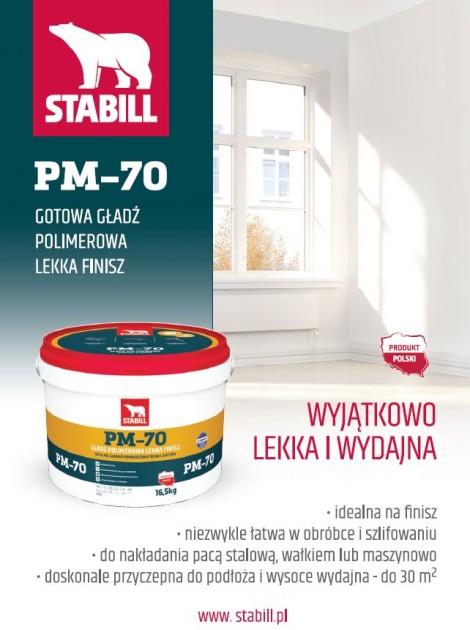 STABILL - PM-70 Gotowa gładź polimerowa lekka finisz