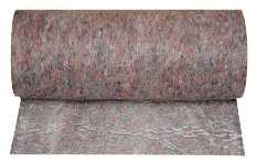 Zamiast folii, którą łatwo uszkodzić, możemy podłogę zakryć filcem ochronnym z folią.