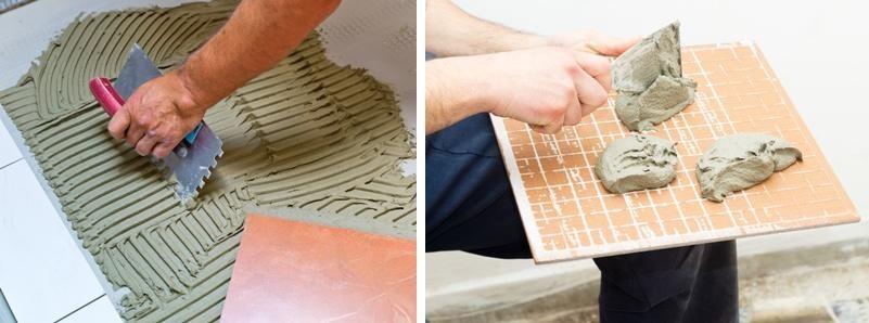 Przyklejanie płytek ceramicznych