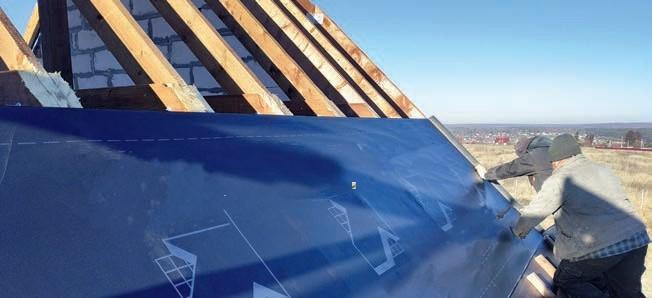 Zdj 6. Ochrona termoizolacji dachu