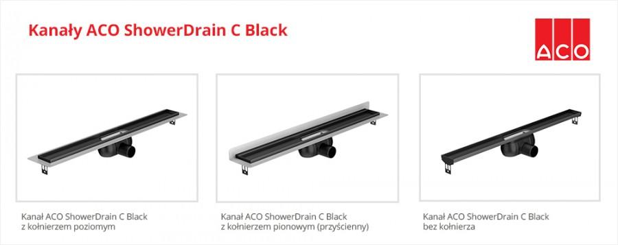 ACO ShowerDrain C Black