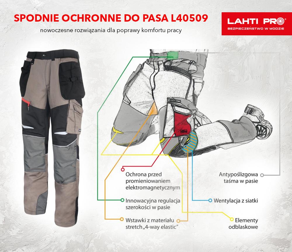 Spodnie ochronne do pasa L40509