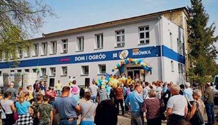 KORSZE (woj. warmińsko-mazurskie) – otwarcie marketu Mini-Mrówka miało miejsce 27.04.2019, – inwestorem jest firma KRYS-MAR, – powierzchnia handlowa 500 mkw. + ogród zewnętrzny 200 mkw.