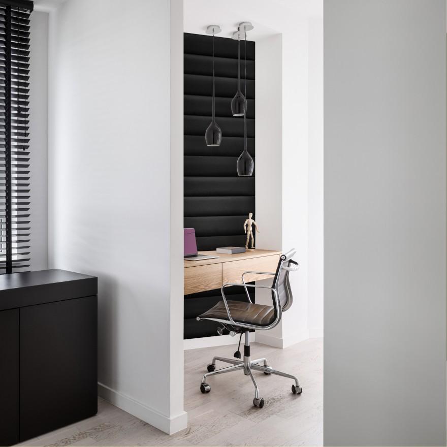 Zdj. 2. Pomimo naturalnych skojarzeń z sypialnią i miękkimi wezgłowiami, elementy mollis® można zastosować również w pokoju dziecięcym, salonie, domowym biurze, przedpokoju, a nawet obiektach komercyjnych. Kolekcja Mollis LONGUE.