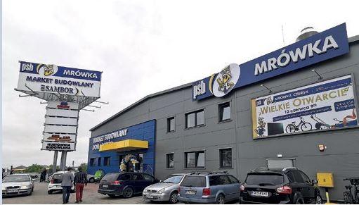 CZERSK (woj. pomorskie) – otwarcie Mrówki odbyło się 10.06.2020 r., – inwestorem jest firma SAMBOR, – powierzchnia handlowa stanowi 1800 m2 + ogród zewnętrzny 900 m2, – klientów obsługuje 24-osobowy zespół pracowników.