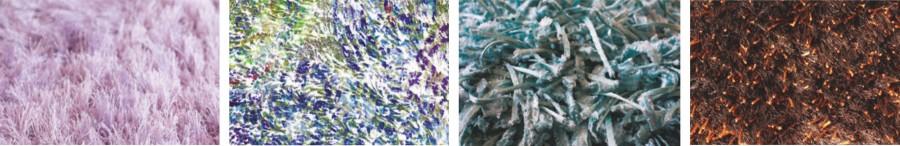 Zdj 2.Duży wpływ na walory estetyczne oraz użytkowanie dywnaów shaggy ma także rodzaj przędzy, z jakiej je wykonano.