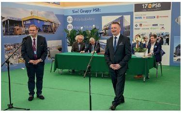 Uroczyste otwarcie 17 Tragów PSB przez zarząd Grupy: Mirosław Lubarski i Bogdan Panhirsz