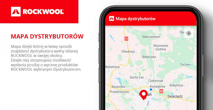 Mapa dystrybutorów ROCKWOOL