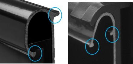 Zdj. 1. Wywinięcie zewnętrzne i wewnętrzne rynny dają 4-krotne wzmocnienie profilu. Źródło: Archiwum Wavin.