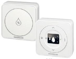 Wewnętrzny i zewnętrzny czujnik klimatyczny kontroluje wilgotność powietrza