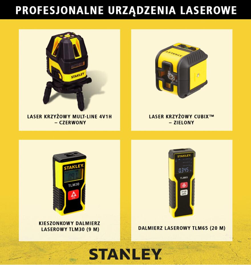 Profesjonalne urządzenia laserowe Stanley